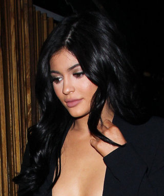 Kylie Jenner Steps Out in a Dangerously Low-Cut Jumpsuit