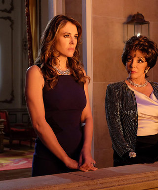 """The Royals: Elizabeth Hurley Says She and Co-Stars """"Adore Joan Collins Being on the Set"""""""