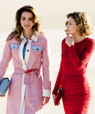 Queen Letizia and Queen Rania Are One Stylish Pair at the Madrid Airport