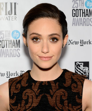 Emmy Rossum's Smoky Eye and Elegant Braid Provide Major Holiday Beauty Inspiration