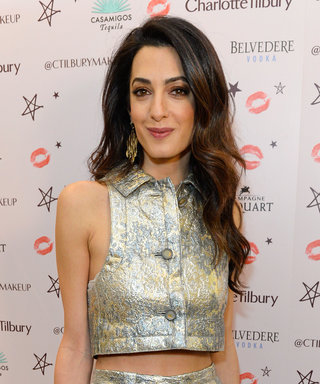 Amal Clooney Bares Her Midriff in a Silver Crop Top and Matching Culottes