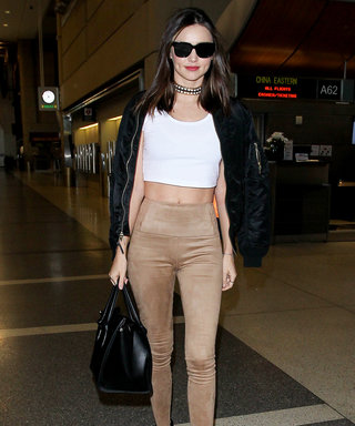 Miranda Kerr Shows Off Her Toned Abs in Her Latest Airport Look