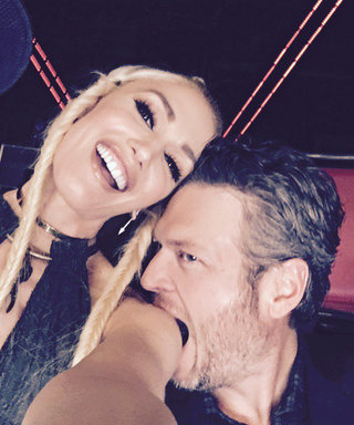 Blake Shelton Chomps on Gwen Stefani's Shoulder in an Adorable Selfie from The Voice