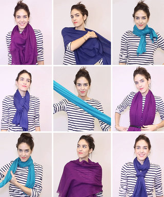Our GIF to You: 18 Chic Tricks to Tying a Scarf