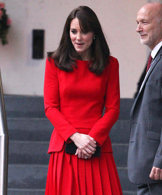 Kate Middleton Gets in the Holiday Spirit in a Fiery Red Dress