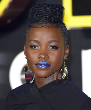 Lupita Nyong'o's Blue Lip at the Star Wars Premiere Proves She's the Queen of Daring Beauty Looks