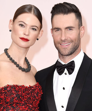 Adam Levine Debuts a Platinum 'Do While in Disneyland with Wife Behati Prinsloo
