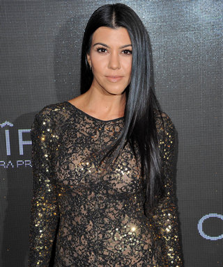 Kourtney Kardashian Flaunts Her Toned Abs in Workout Selfie
