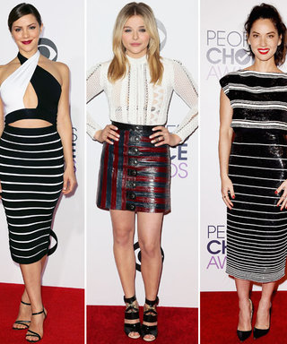 Stars in Stripes: The Trend Reigns Supreme at the 2015 People's Choice Awards