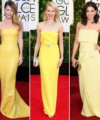 Golden Globes Red Carpet Trend Alert: Shades of Yellow