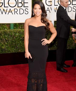 """Golden Globes Winner Gina Rodriguez On Fashion: """"I Don't Have a Sample-Size Body, and I'm OK With That."""""""