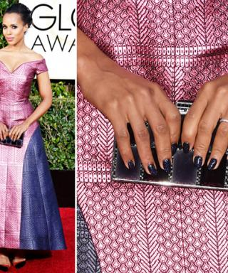Lacquer We Love: Chanel Blue Satin on Kerry Washington