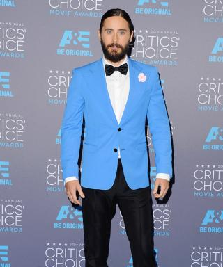 Jared Leto Returns to His Man Bun for the Critics' Choice Movie Awards (and Adds a Little Sparkle)