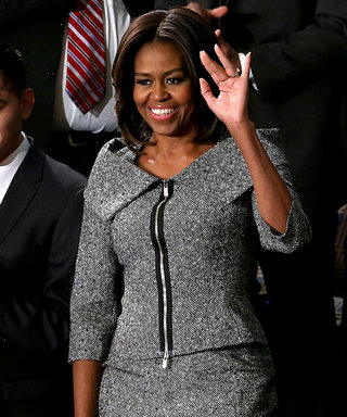 Michelle Obama Makes a Fashion Statement in Gray Tweed at the State of the Union Address