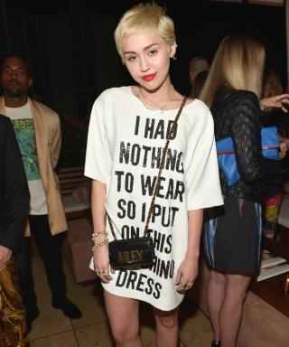 Miley Cyrus Causes Commotion (Again) with a Cheeky Statement Dress