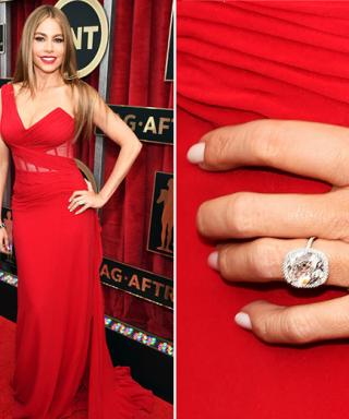 Big Photo for a Big Rock: Sofia Vergara Shows Off Her Huge Engagement Ring at the SAG Awards