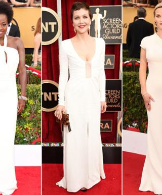 Shades of Winter White Shine On the SAGs Red Carpet