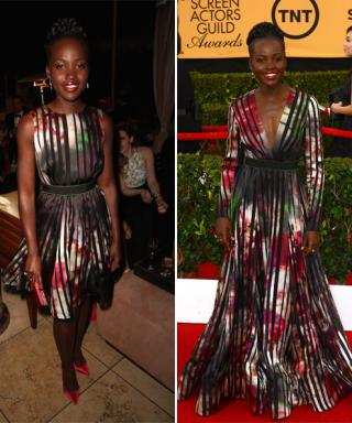 Lupita Nyong'o Swaps Her SAG Awards Red Carpet Gown for a Mini Version in the Same Print