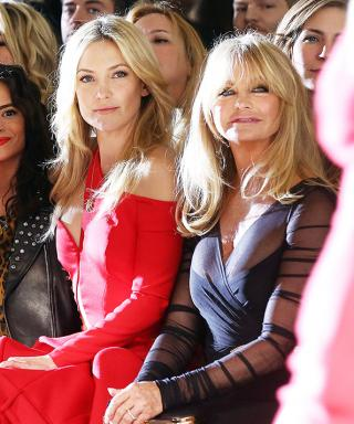 Kate Hudson and Mom Goldie Hawn Attend (and Wow!) at the Versace Couture Show Together