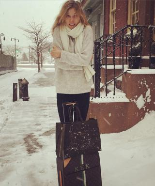 How Celebrities Weathered the Blizzard of 2015: See Their Instagrams