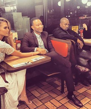 Chrissy Teigen and John Legend Go on a Double Date at Waffle House with Kim Kardashian and Kanye West