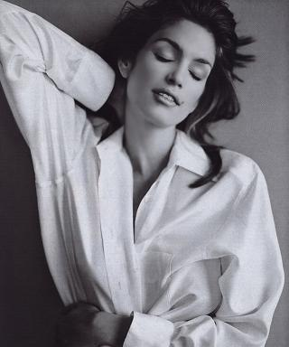 No One Wears a White Shirt Like Cindy Crawford: See Gorgeous Vintage Snaps of the Supermodel