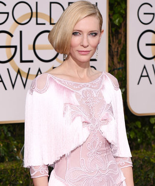 Carol Co-Stars Cate Blanchett and Rooney Mara Wear the Sweetest Trend at theGolden Globes