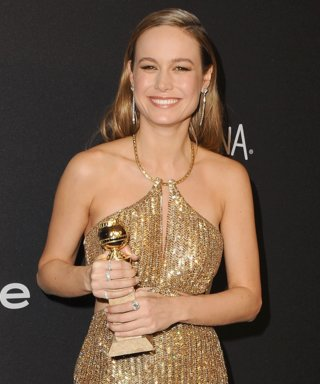Golden Globe Winner Brie Larson Changed Into Jelly Sandals for the After-Party, Noshed on In-N-Out Burgers During Show