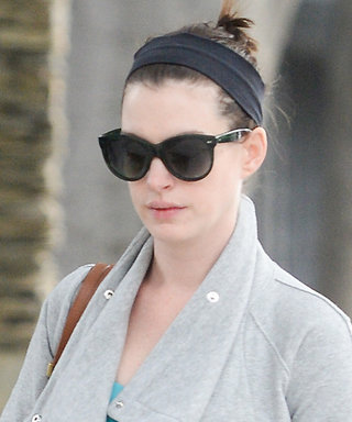 Anne Hathaway Shows Off Her Growing Bump in a Comfy-Cool Athleisure Ensemble