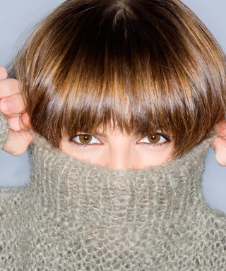 How to Tame Unruly Bangs This Winter