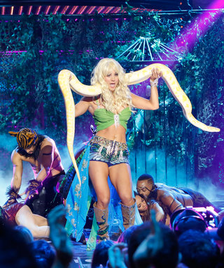 Watch Kaley Cuoco Use a Yellow Python to Channel Britney Spears on Lip Sync Battle
