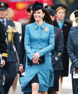 Kate Middleton Is Radiant in Recycled Blue at the RAF Air Cadets Celebration