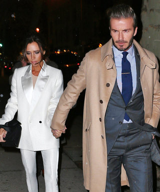 Victoria and David Beckham Twin in Tailored Suits on Date Night