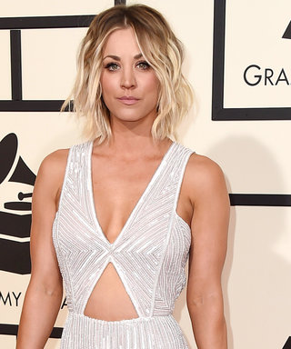 Kaley Cuoco Shows Off Her Toned Abs on the Grammys Red Carpet