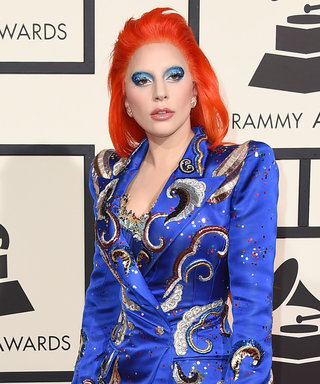 Lady Gaga Channels David Bowie in a Stunning Marc Jacobs Design at the Grammys