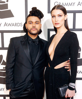 The Weeknd and Bella Hadid Make Their Grammys Red Carpet (Coordinating) Couple Debut
