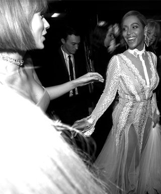 Taylor Swift and Beyoncé Share Adorable Backstage Moment at the Grammys