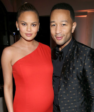 Chrissy Teigen Looks Red Hot at Sony's Grammys After-Party
