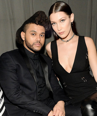 The Weeknd and Bella Hadid Cozy Up Inside Universal Music Group's Grammys After-Party