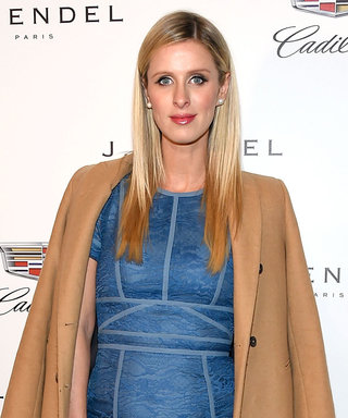 Nicky Hilton Dresses Her Growing Baby Bump in Blue Lace