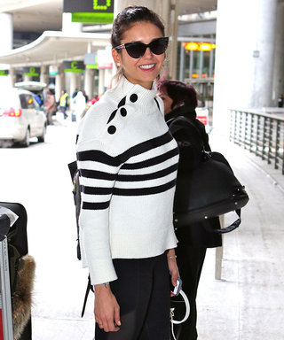 Nina Dobrev's Nautical Airport Look Is the Definition of Weekend Chic