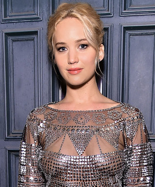 Jennifer Lawrence Shines at a Pre-Oscars Bash in a Sheer Top and Velvet Culottes