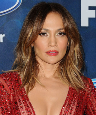 Jennifer Lopez Stuns in a Daring Red Catsuit for American Idol Party