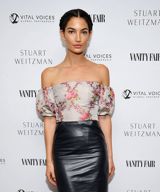 Lily Aldridge Just Wore the Most Amazing Leather Midi Skirt