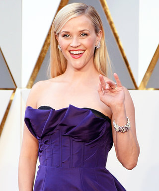 Reese Witherspoon Looked Positively Regal in Purple at the 2016 Oscars