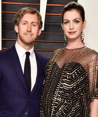 Anne Hathaway Shows Off Her Growing Baby Bump at an Oscars After-Party