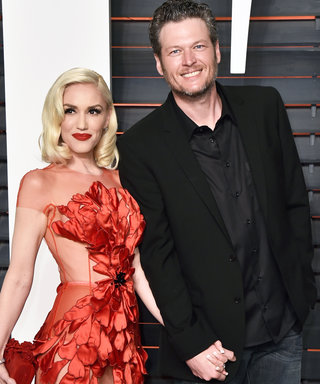 Gwen Stefani and Blake Shelton Make Red Carpet Debut at Oscars After-Party