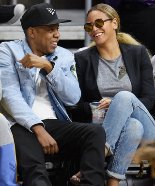 Jay Z and Beyoncé Laugh It Up Courtside on Date Night