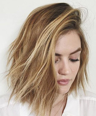 Lucy Hale Goes Platinum Blonde