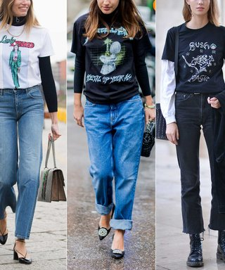 Street Style Stars Are Bringing Back Your Favorite Mid-Aughts T-Shirt Trend